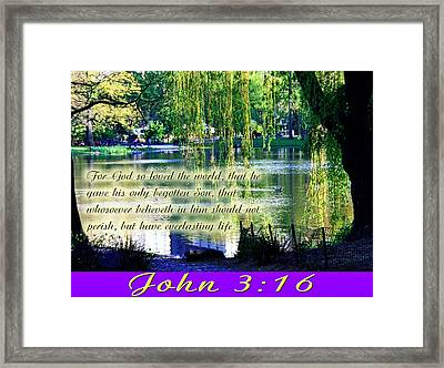For God So Loved- Framed Print by Terry Wallace