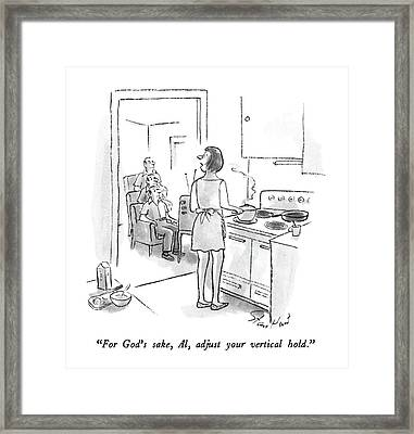 For God's Sake Framed Print