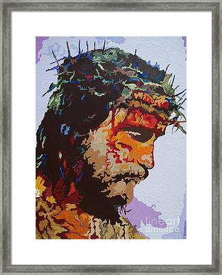 For He So Loved -jesus Framed Print by Kelly Hartman