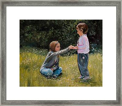 For Me? Framed Print by Jane Woodward