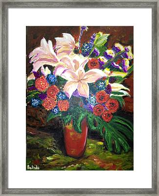 Framed Print featuring the painting For My Friend Lily by Belinda Low