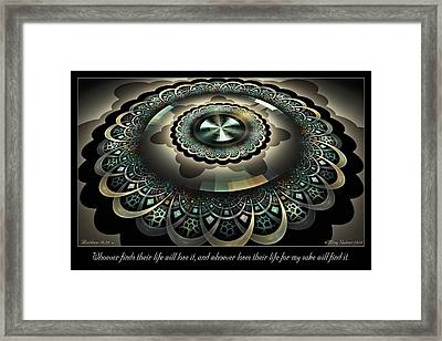 For My Sake Framed Print