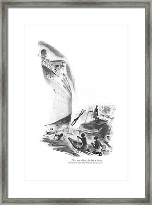 For One Thing Framed Print