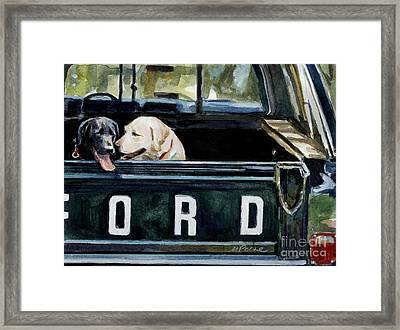 For Our Retriever Dogs Framed Print by Molly Poole