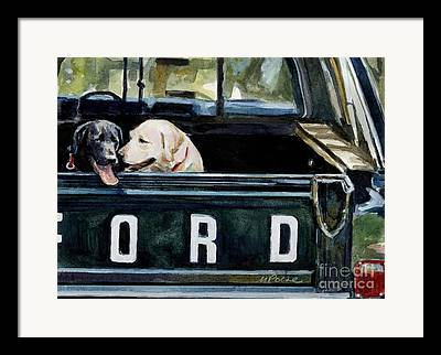 Black Labrador Retreiver Framed Prints