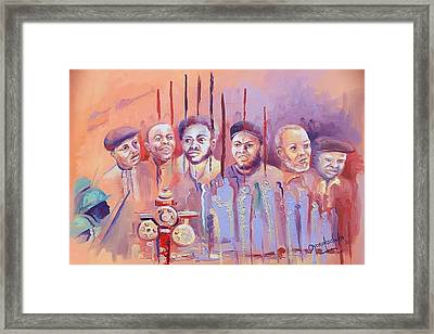 Framed Print featuring the painting For Our Tomorrow by Oyoroko Ken ochuko