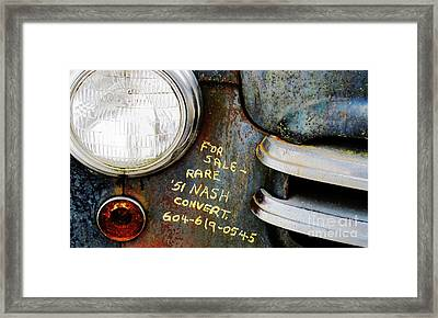 For Sale  Framed Print by Ethna Gillespie