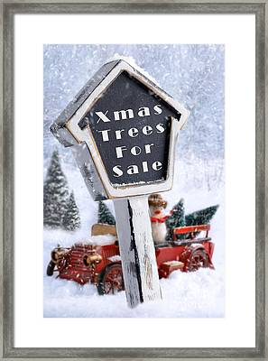 For Sale Sign Framed Print by Amanda Elwell