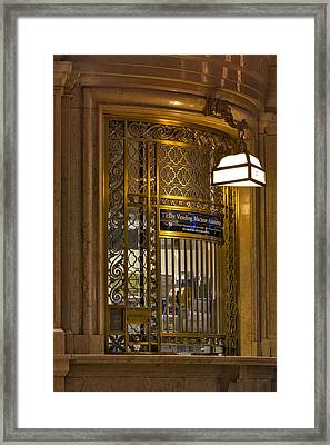 For Service Ring Bell Gct Framed Print by Susan Candelario