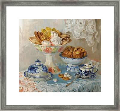For Tea Framed Print by Victoria Kharchenko
