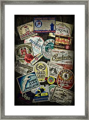 For The Beer Drinker Framed Print by Paul Ward