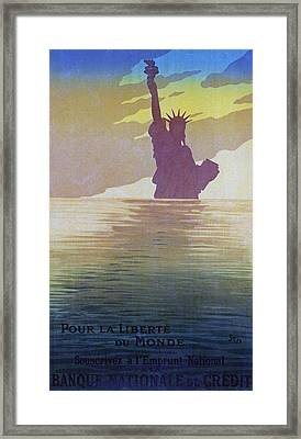 For The Freedom Of The World, 1917 Framed Print by Sem