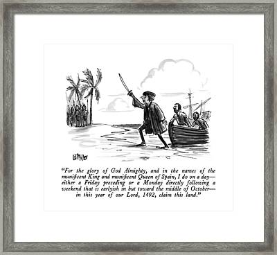 For The Glory Of God Almighty Framed Print