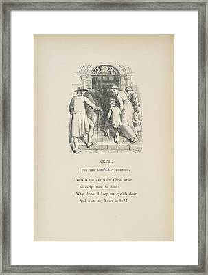 For The Lord's-day Morning Framed Print by British Library