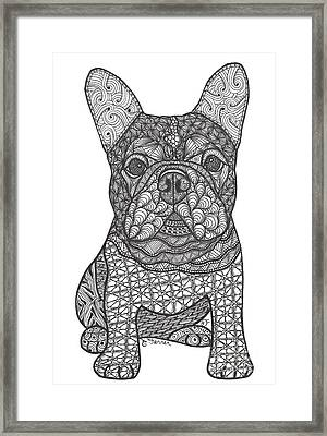 For The Love - French Bulldog Framed Print