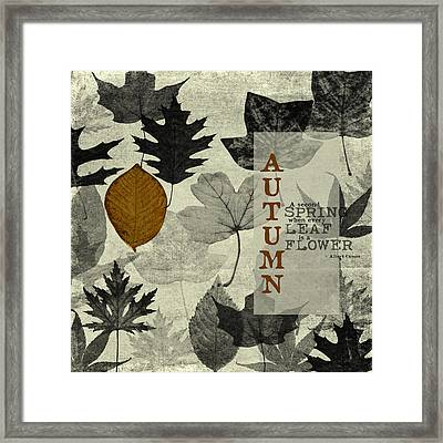 For The Love Of Autumnn Framed Print by Bonnie Bruno
