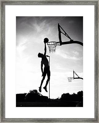 For The Love Of Basketball  Framed Print by Lisa Piper