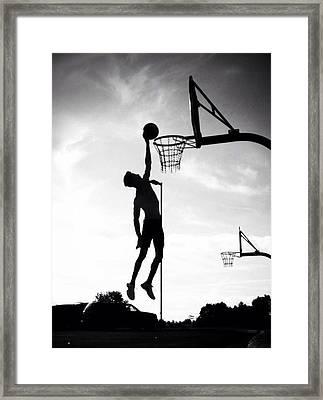 For The Love Of Basketball  Framed Print