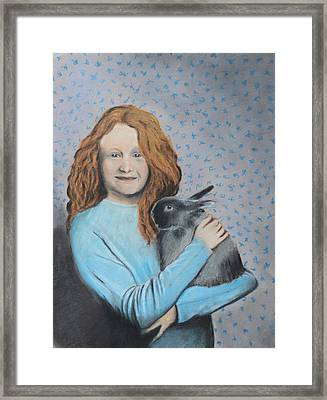 Framed Print featuring the painting For The Love Of Bunny by Jeanne Fischer