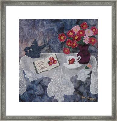 For The Love Of Camellias Framed Print by Anita Jacques