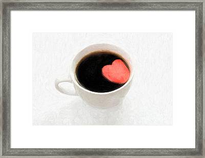 For The Love Of Coffee Framed Print by Linda Matlow