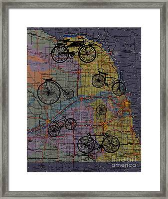 For The Love Of Cycling Framed Print by Kathleen Keller