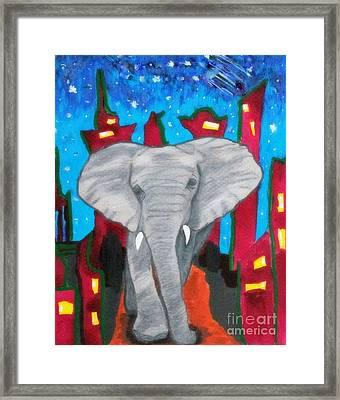 For The Love Of Elephants Framed Print