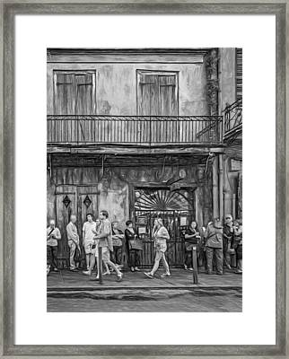 For The Love Of Jazz - Paint Bw Framed Print