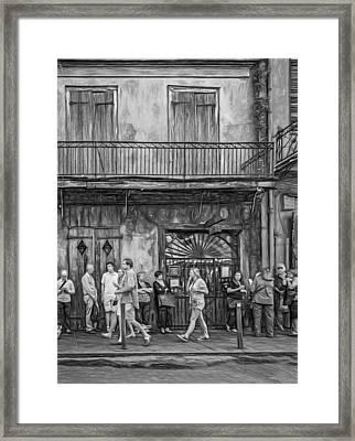 For The Love Of Jazz - Paint Bw Framed Print by Steve Harrington
