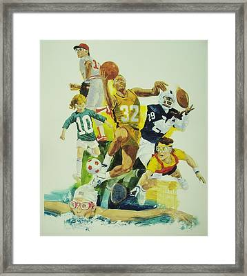 For The Love Of Sports Framed Print by Chuck Hamrick