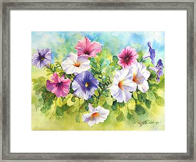 For The Love Of Summer Framed Print by Betty M M   Wong
