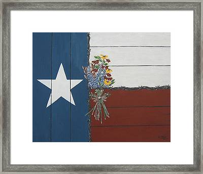 For The Love Of Texas Framed Print