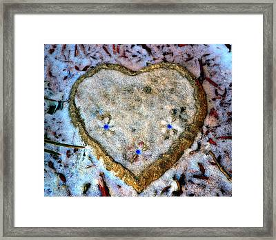 For The Love Of Winter Framed Print by Deena Stoddard
