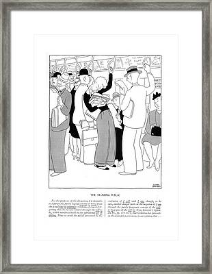 For The Purposes Of This Discussion Framed Print by Gluyas Williams