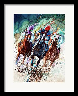 Horse Racing Art Framed Prints