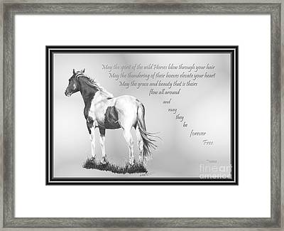 for the Wildies Framed Print by Marianne NANA Betts
