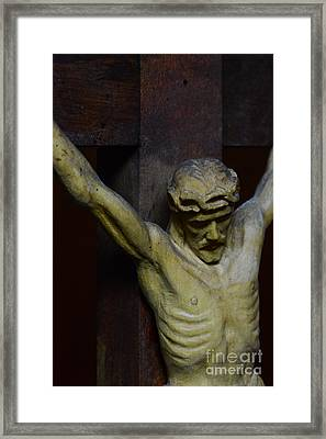 For Your Sins Framed Print
