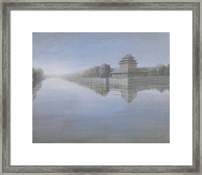 Forbidden City, 2012 Acrylic On Canvas Framed Print by Lincoln Seligman