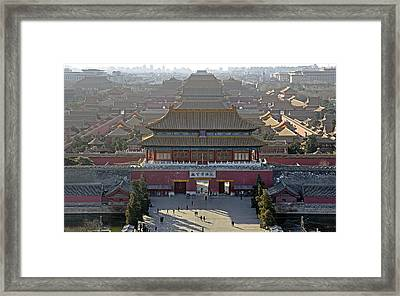 Forbidden City From Above - Beijing China Framed Print