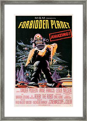 Forbidden Planet 1956 Framed Print by Presented By American Classic Art