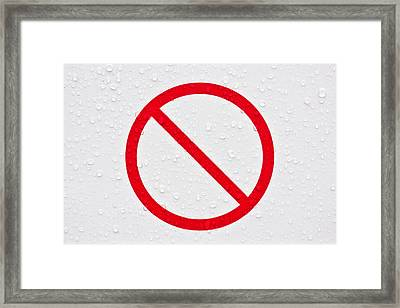 Forbidden Sign Framed Print by Tom Gowanlock