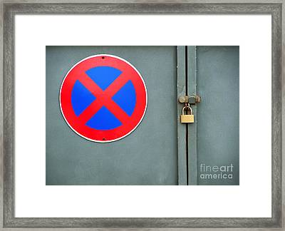 Forbidden Zone Framed Print by Sinisa Botas