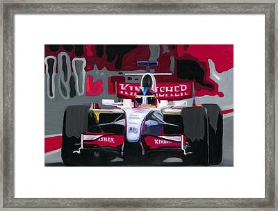 Force India Rising In F1 Monaco Grand Prix 2008 Framed Print