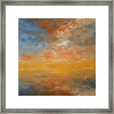 Framed Print featuring the painting Force Of Nature 2 by Jane  See