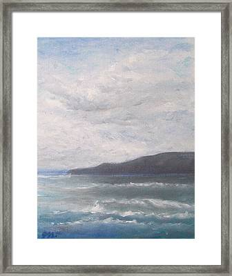 Framed Print featuring the painting Force Of Nature 3 by Jane  See