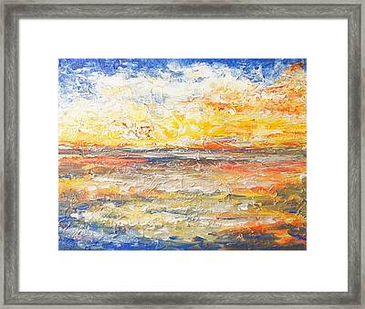 Framed Print featuring the painting Force Of Nature 5 by Jane  See