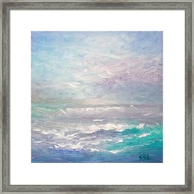 Framed Print featuring the painting Force Of Nature  by Jane  See