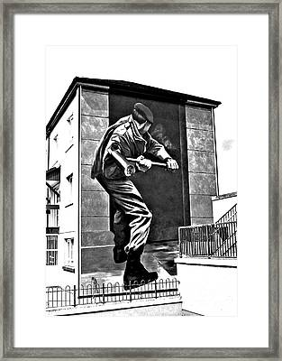 Forced Entry Derry Mural Framed Print