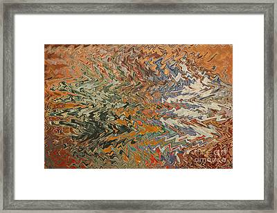 Forces Of Nature - Abstract Art Framed Print by Carol Groenen