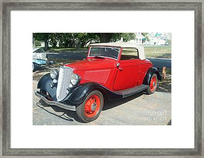 Ford 1940 F40 Convertible Framed Print by Rob Luzier